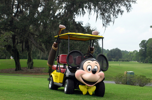 Disney golf cart