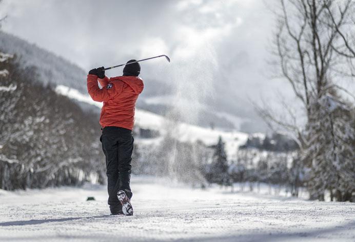 Golf sous la neige