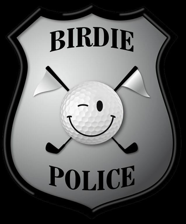 Logo birdie police pour incrustation 3